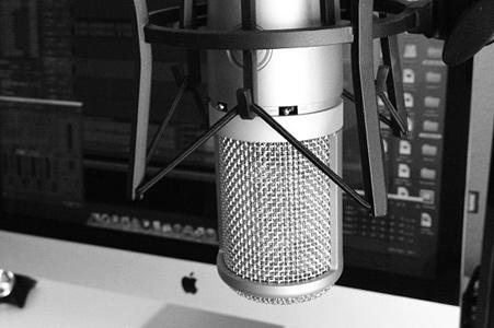 Micrófono en estudio de grabación