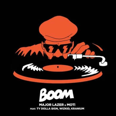 Carátula - Major Lazer feat. Moti - Boom