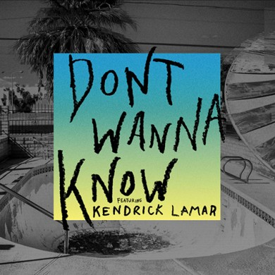 Carátula - Maroon5 feat. Kendrick Lamar - Don't Wanna Know