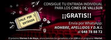 Imagen para noticia - sorteo 3 entradas para los cines Megarama ValllSur Valladolid