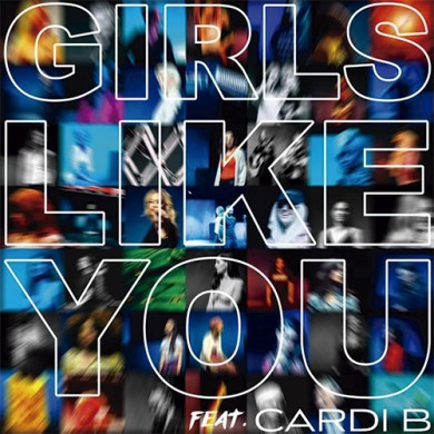 Carátula - Maroon5 feat. Cardi B - Girls Like You