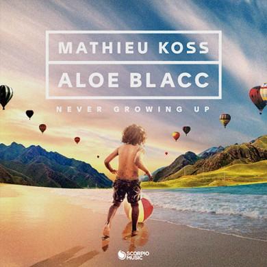 Carátula - Mathieu Koss & Aloe Blacc - Never Growing Up