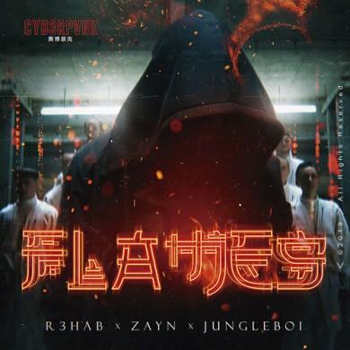 Carátula - R3HAB & ZAYN - Flames