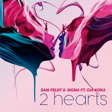 Carátula - Sam Feldt Feat. Gia Koka - 2 Hearts