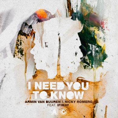 Carátula - Armin Van Buuren & Nicky Romero - I Need You To Know